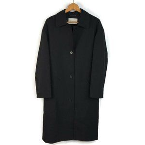 Babaton Button Up Lined  Black Overcoat Jacket New